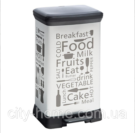 Ведро для мусора Curver Deco Bin 50 литров, фото 2