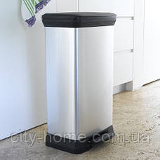 Ведро для мусора Curver Deco Bin педалью 50 литров, фото 2