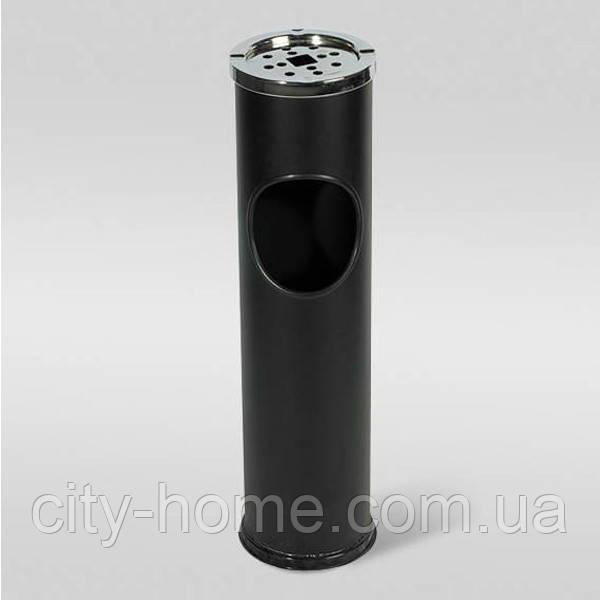 Урна-пепельница черная Axentia  10 л