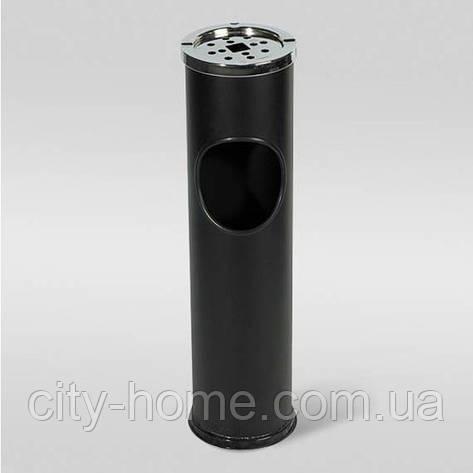 Урна-пепельница черная Axentia  10 л, фото 2