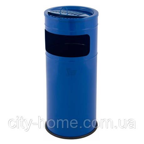 Урна-пепельница синяя 25 л., фото 2