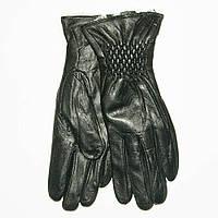 Оптом женские кожаные зимние перчатки на меху кролика (мех искусственный) - F11-1, фото 1