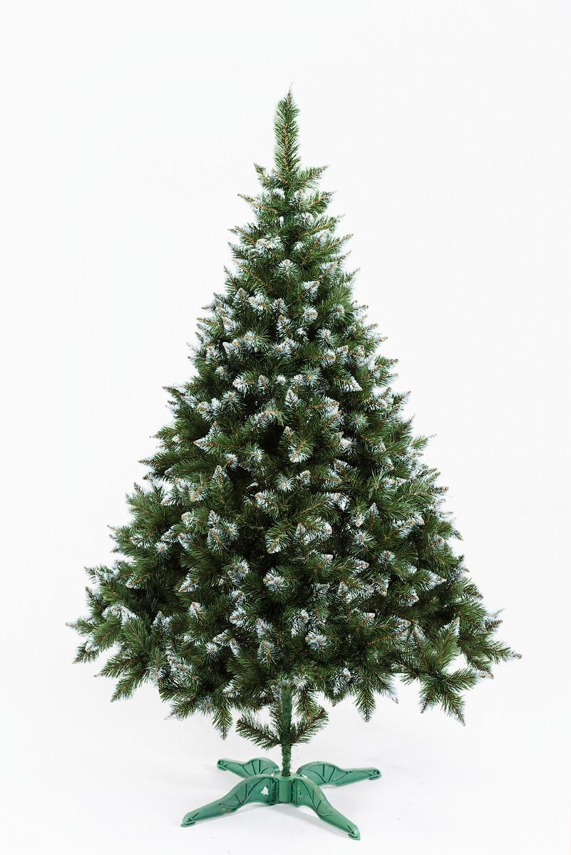 Искусственная елка Рождественская 1,8м Зелёная с белыми кончиками (SUN2164)