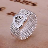 """Кольцо женские в стиле Тиффани """"Серебряное сердце"""""""