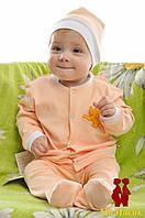 Кофточка для новорожденного с нашивкой (интерлок)