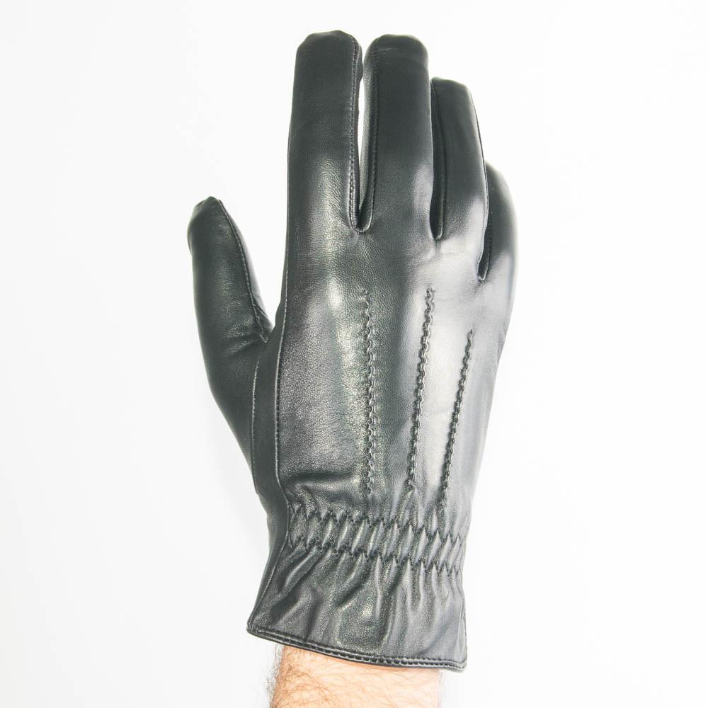 Мужские кожаные перчатки (лайка) с махровым утеплителем - M13-4 до 20 см