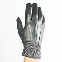 Мужские кожаные перчатки (лайка) с махровым утеплителем - M13-4, фото 1