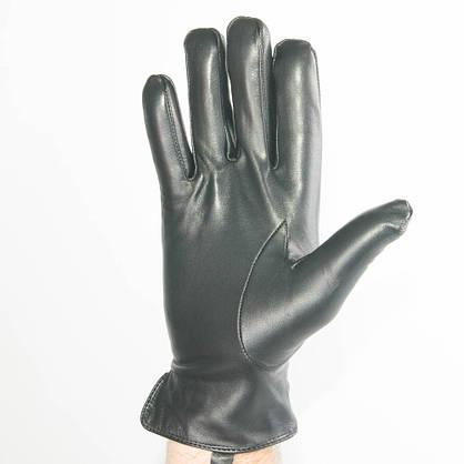 Мужские кожаные перчатки (лайка) с махровым утеплителем - M13-4 до 20 см, фото 2