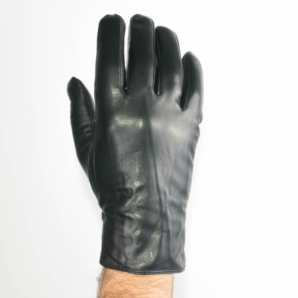 Мужские демисезонные перчатки из качественной кожи - M13-3 до 20 см