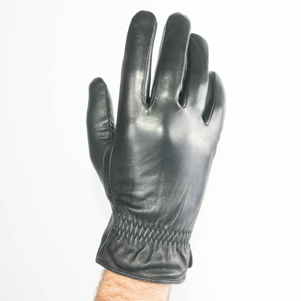 Мужские кожаные перчатки (лайка) с махровым утеплителем - M13-5 до 20 см