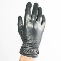 Мужские кожаные перчатки (лайка) с махровым утеплителем - M13-5, фото 1