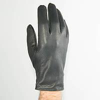 Качественные мужские перчатки демисезонные из оленьей кожи с шерстяной подкладкой - №M31-1, фото 1