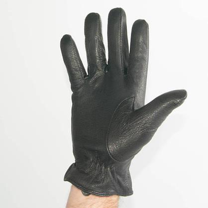 Оптом мужские кожаные перчатки из оленьей кожи с шерстяной подкладкой - №M31-1, фото 2