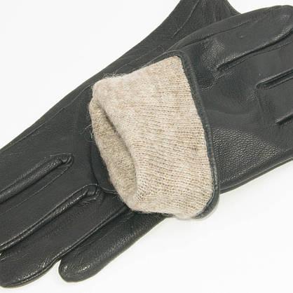 Оптом мужские кожаные перчатки из оленьей кожи с шерстяной подкладкой - №M31-2, фото 3