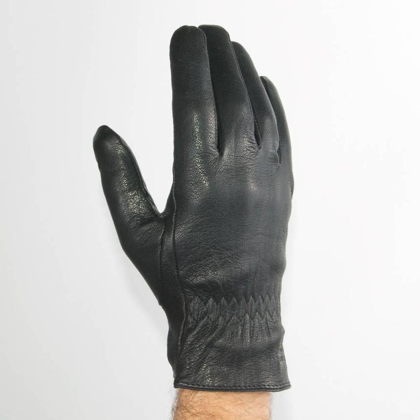 Оптом мужские кожаные перчатки из оленьей кожи с шерстяной подкладкой - №M31-2, фото 2