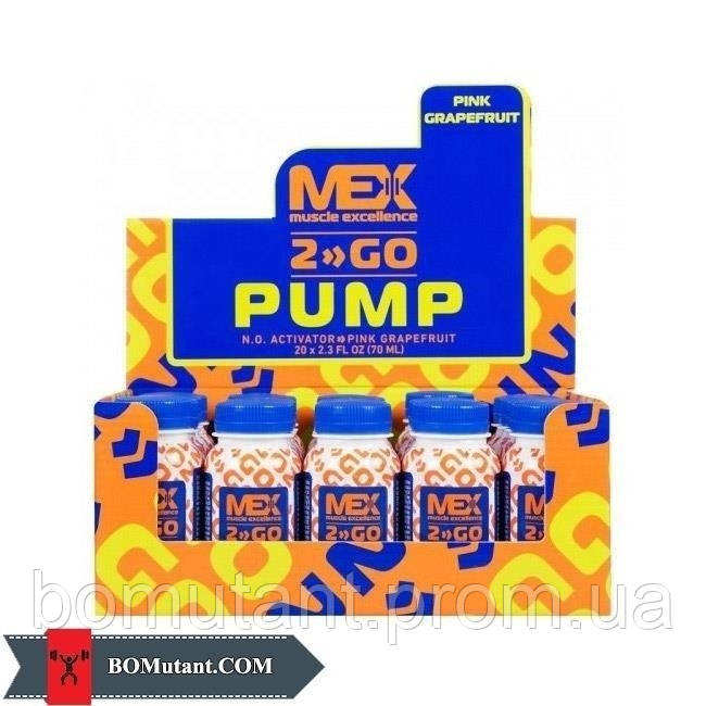 Pump Shot 20*70 ml pink grapefruit MEX Nutrition