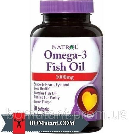Omega-3 Fish Oil 90 softgels lemon Natrol