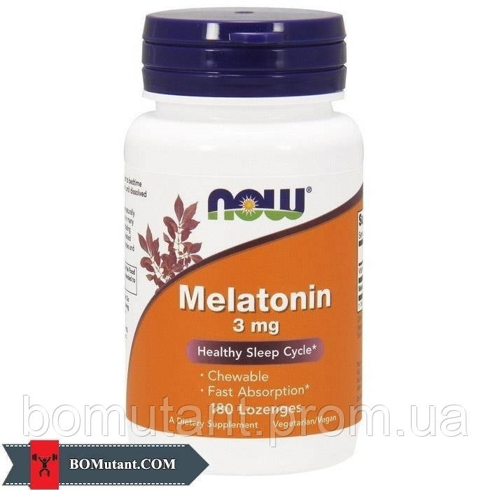 Melatonin 3 mg 180 lozenges NOW