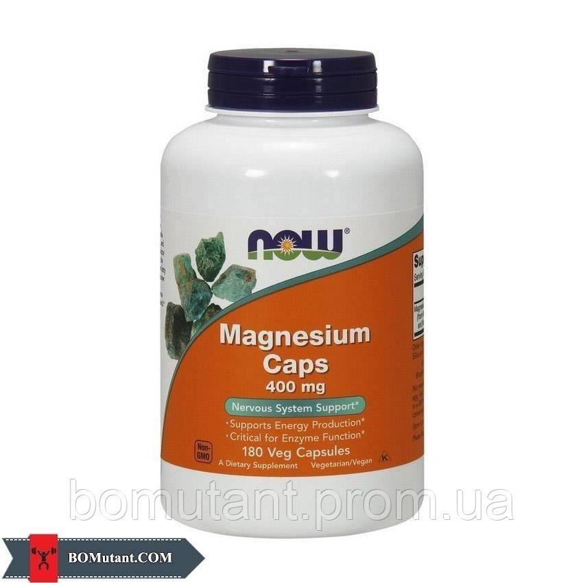 Magnesium Caps 400 mg 180 капсул NOW