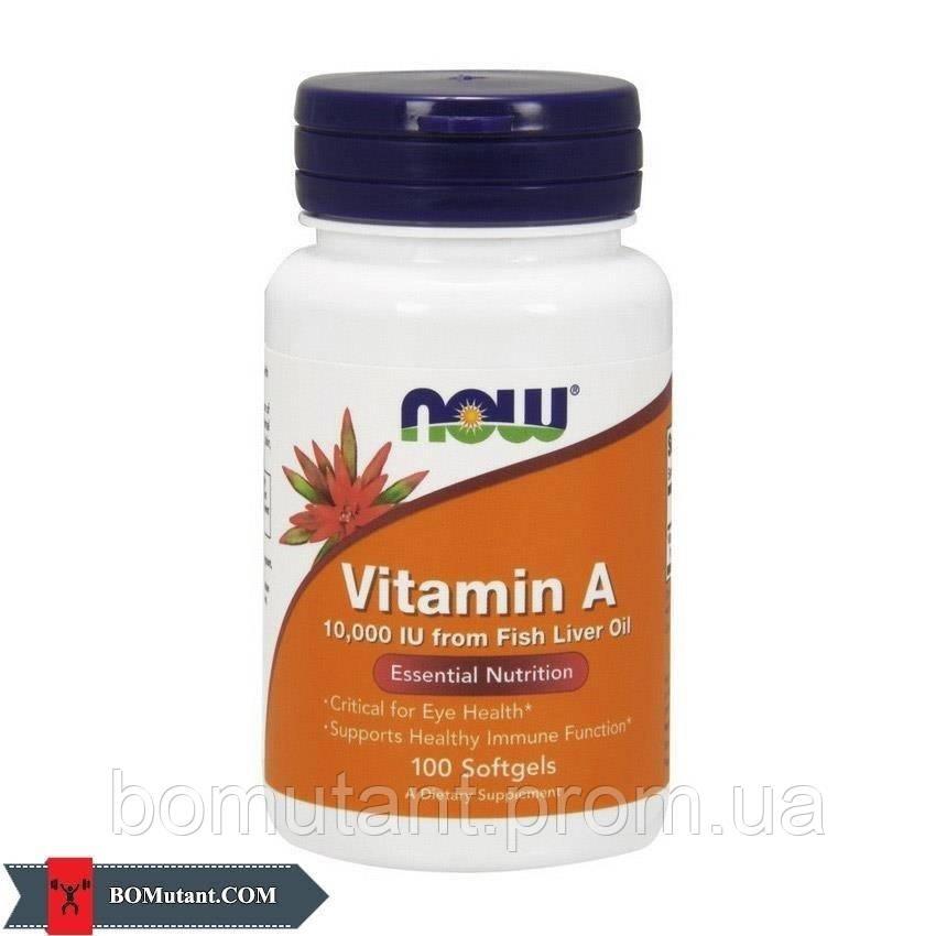 Vitamin A 10,000 IU 100 softgels NOW