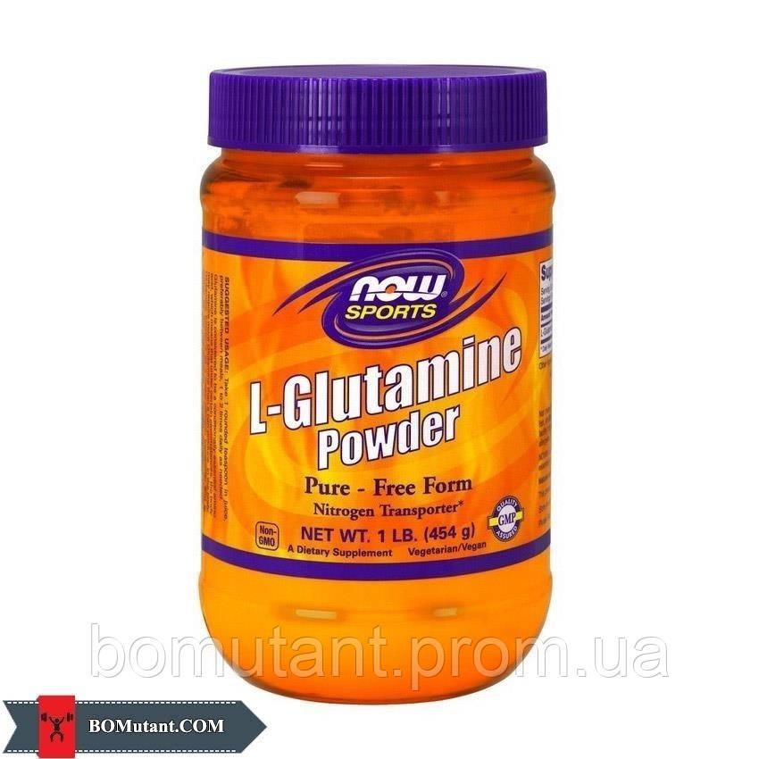 L-Glutamine Powder 454 гр NOW