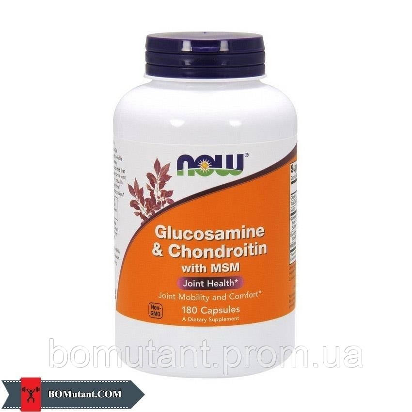 Glucosamine & Chondroitin with MSM 180 капсул NOW