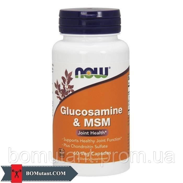 Glucosamine & MSM 60 veg капсул NOW