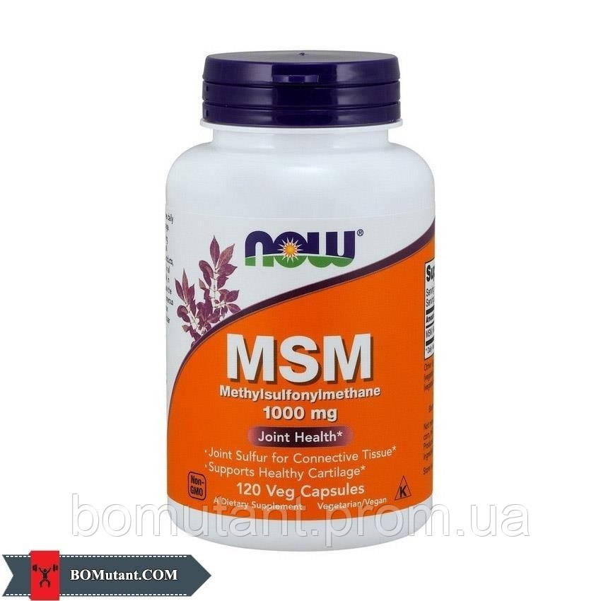 MSM 1000 mg 120 капсул NOW