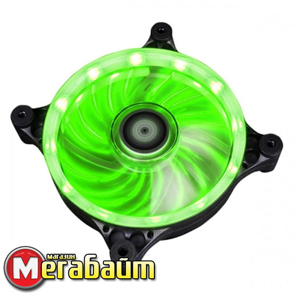 Вентилятор Xigmatek Solar eclipse II SEII-F1253 Green LED (EN9016), 120x120х25 мм, 3-pin Molex