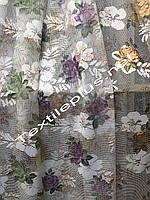 Тюль сетка с цветами