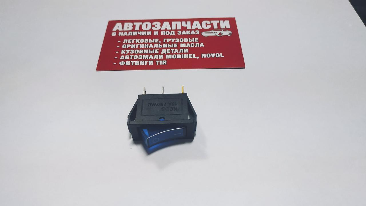 Выключатель кнопочный средний с фиксацией и подсветкой КС-003