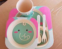 Набор детской посуды из бамбука , фото 2