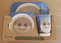 Набор детской посуды из бамбука , фото 3