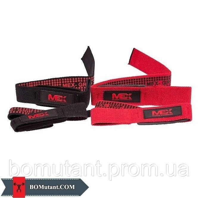 Pro Lift Lifting Straps Red MEX Nutrition