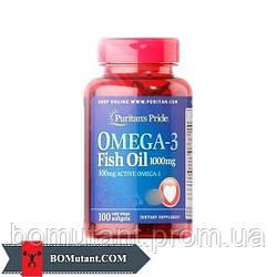 Omega-3 Fish Oil 1000 mg 100 softgels Puritan's Pride