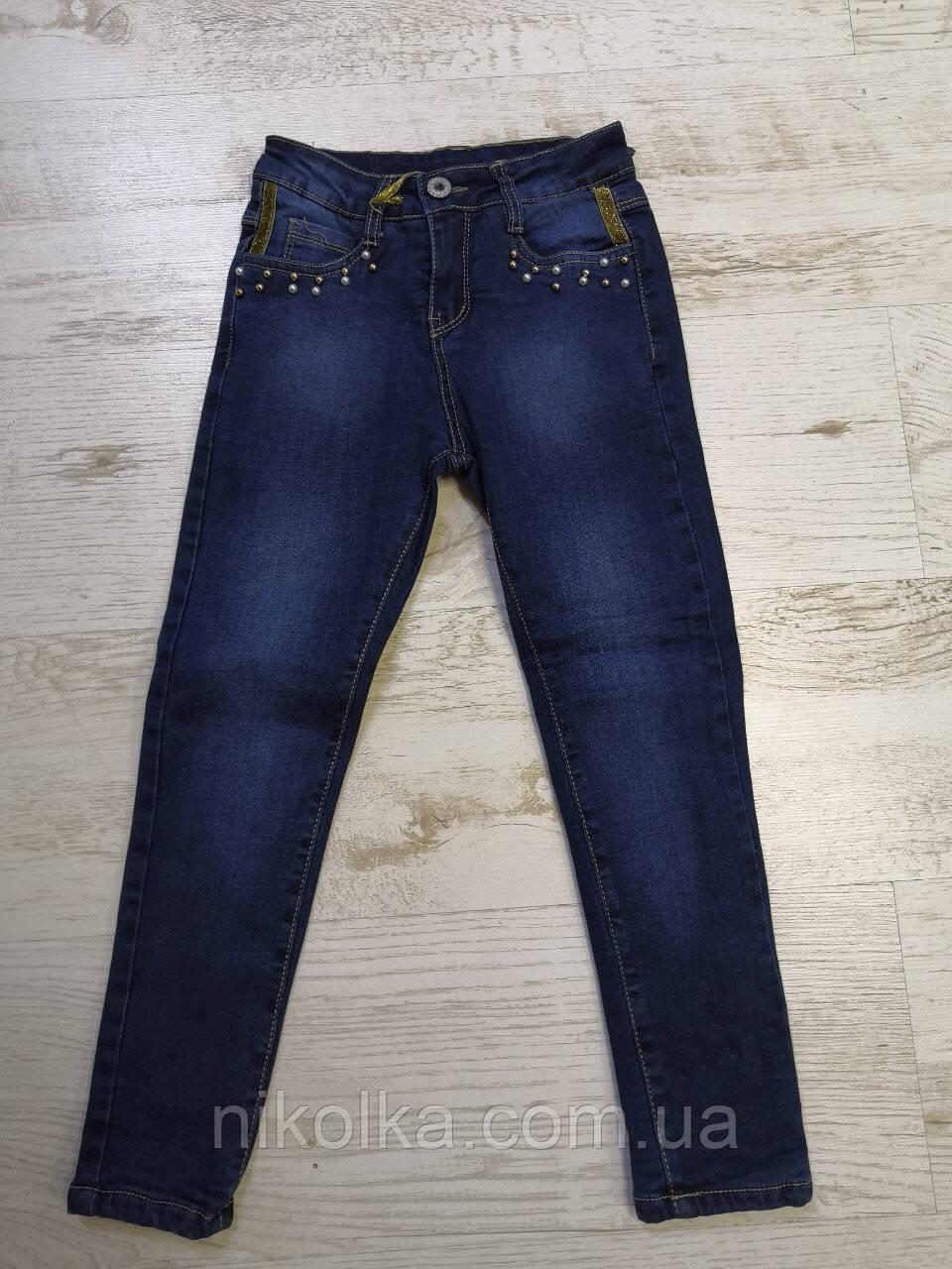 Джинсовые брюки на фисе для девочек оптом, Seagull 134-164 рр., арт. CSQ-1820