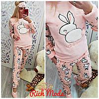 Женский тёплая пижама с карманами. В наборе идет с тапочками- носочками и  повязочкой для 8c2663121c8b4