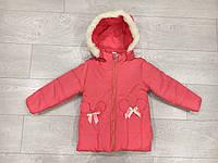 """Куртка на девочку демисезонная с мехом (2-4 лет) """"Spider"""" LB-1048"""