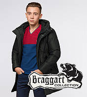 Куртка зимняя подростковая Braggart Teenager 25340 темно-зеленая