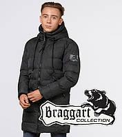Зимняя куртка на мальчика Braggart Teenager 25220 темно-зеленая