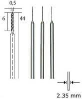 Вольфрам-ванадиевые свёрла, 3 шт., 0.5 мм PROXXON №28864