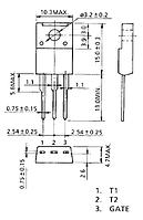 Симистор M8JZ47 (600В 8А)