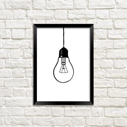 Постер в рамці Лампочка (MT5_18A047)