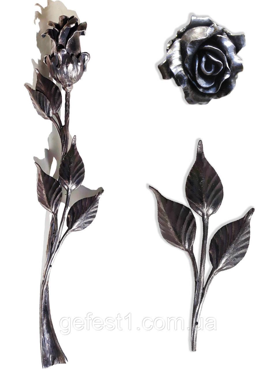 Ковані троянди, квіти металеві