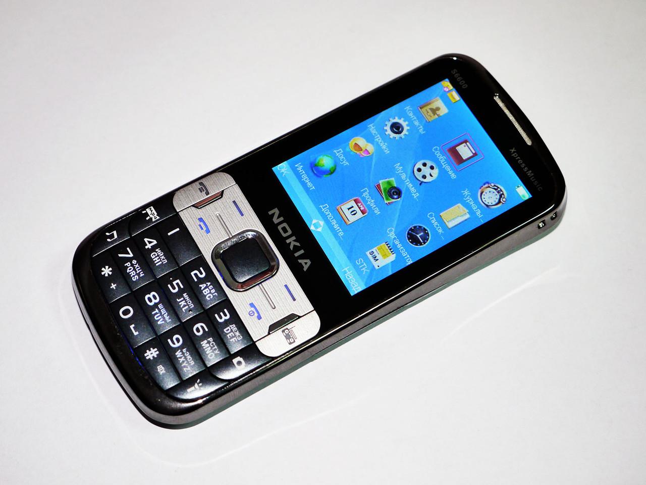 """Телефон Nokia S6600 Черный - 2Sim + Металл  2,2"""" - Fm - Bt - Camera"""