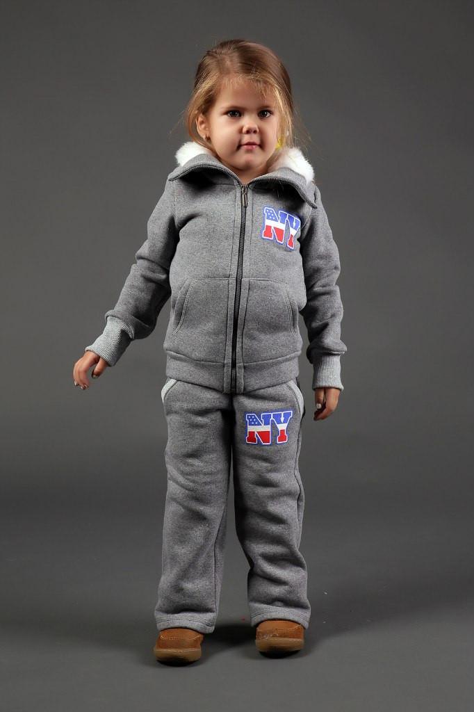 Теплый детский костюм