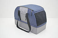Сумка переноска лежак 2 в 1 для собак і котів Гармонія синя, фото 1