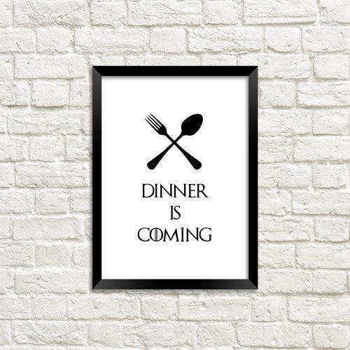 Постер в рамке Dinner is coming А5 (MT5_18A018)
