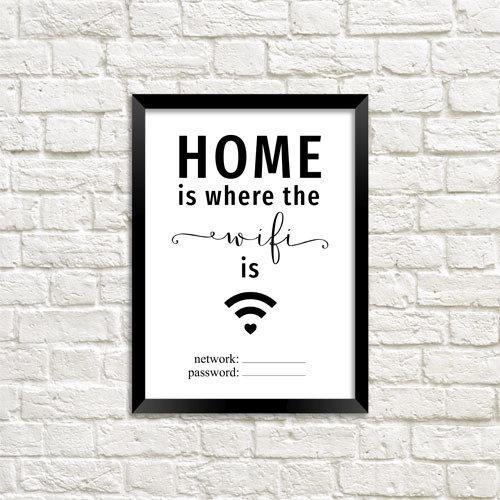 Постер в рамке Home WiFi А5 (MT5_18A009)