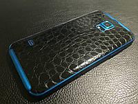 """Декоративная защитная пленка для Samsung Galaxy S5 Sport """"аллигатор черный"""", фото 1"""
